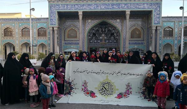 حضور طلاب در آستان مقدس حضرت عبدالعظیم علیه السلام