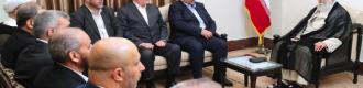 دیدار نایب رئیس دفتر سیاسی حماس و هیئت همراه با رهبر انقلاب